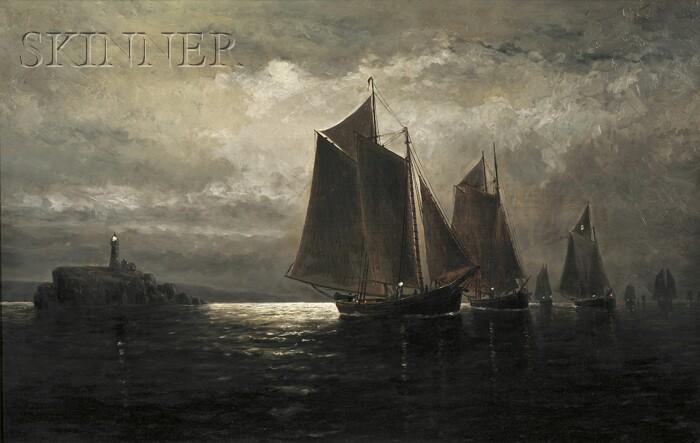Wesley Elbridge Webber (American, 1841-1914)      Making In With The Tide