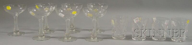 Two Small Sets of Colorless Glassware