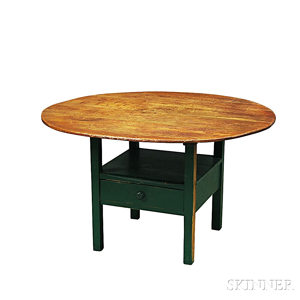 Round-top One-drawer Hutch Table
