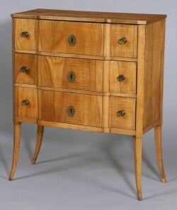 Italian Late Rococo-style Pearwood Diminutive Chest of Drawers