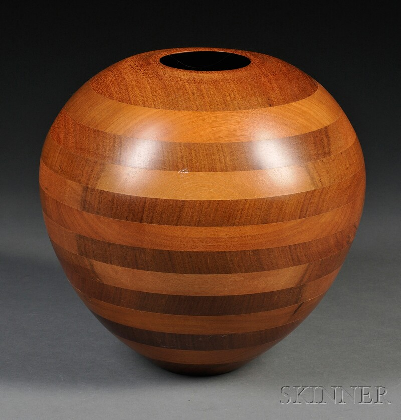 Robert St. Pierre Crafted Wood Vessel