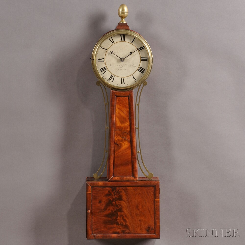 "Samuel Whiting Patent Timepiece or ""Banjo"" Clock"