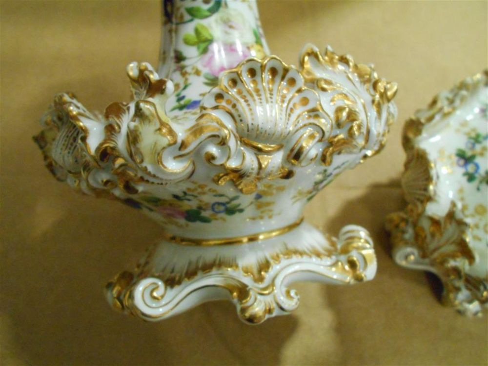 Pair of Limoges Porcelain Jacob Petit Bottles and Stoppers