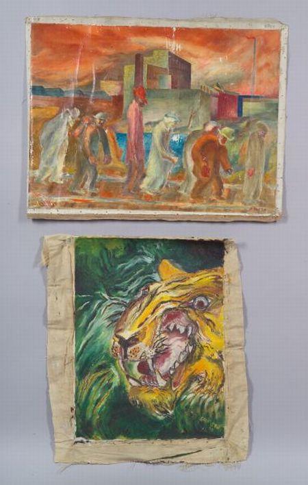 John Deforest Stull (American, 1910-1972)      Factory Workers