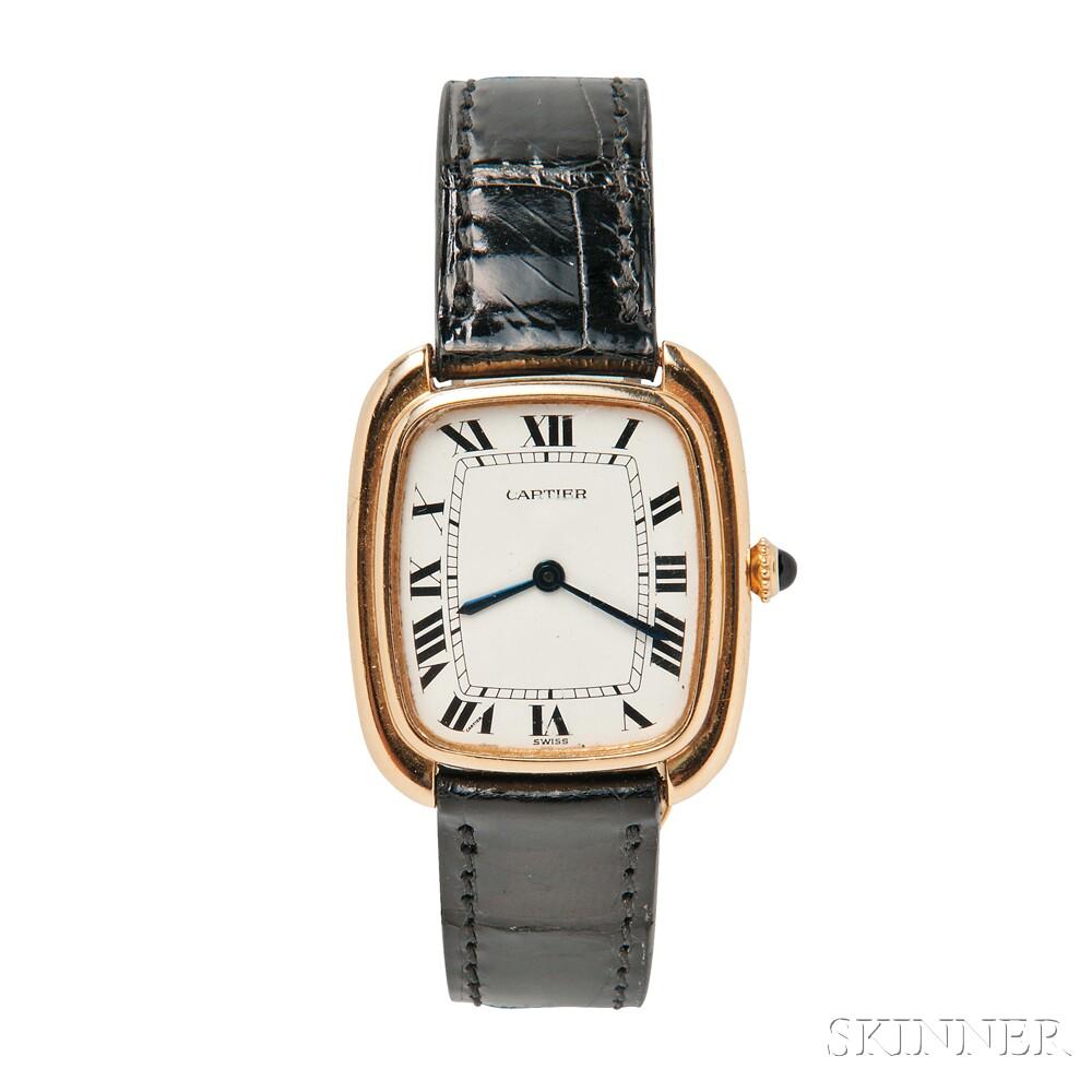 18kt Gold Wristwatch, Cartier