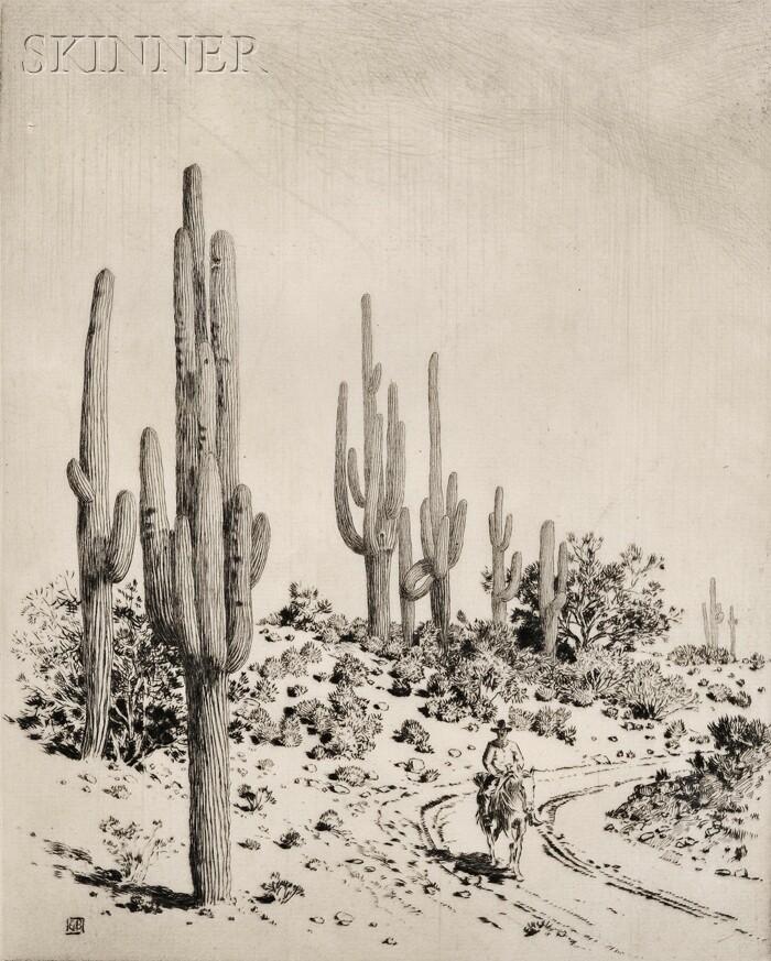 George Elbert Burr (American, 1859-1939)      Road to Apache Reservation - Arizona