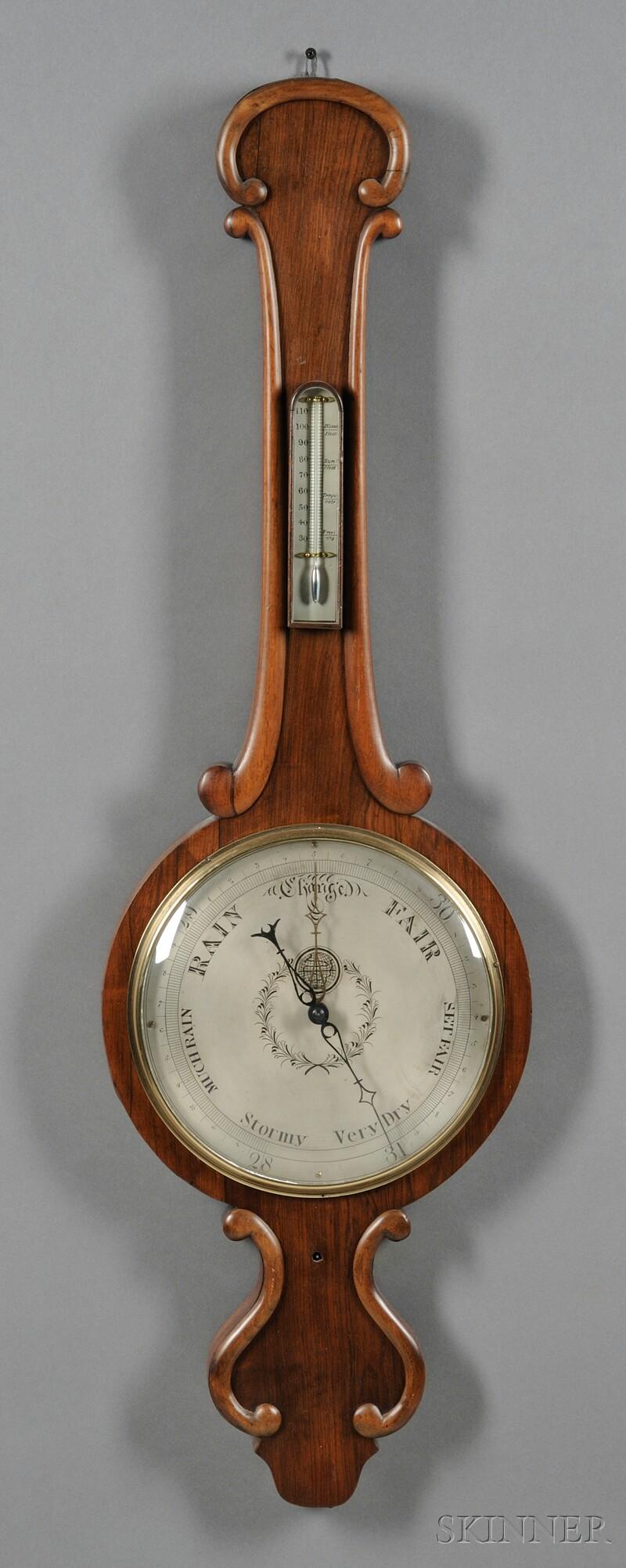 Mahogany Wheel Barometer