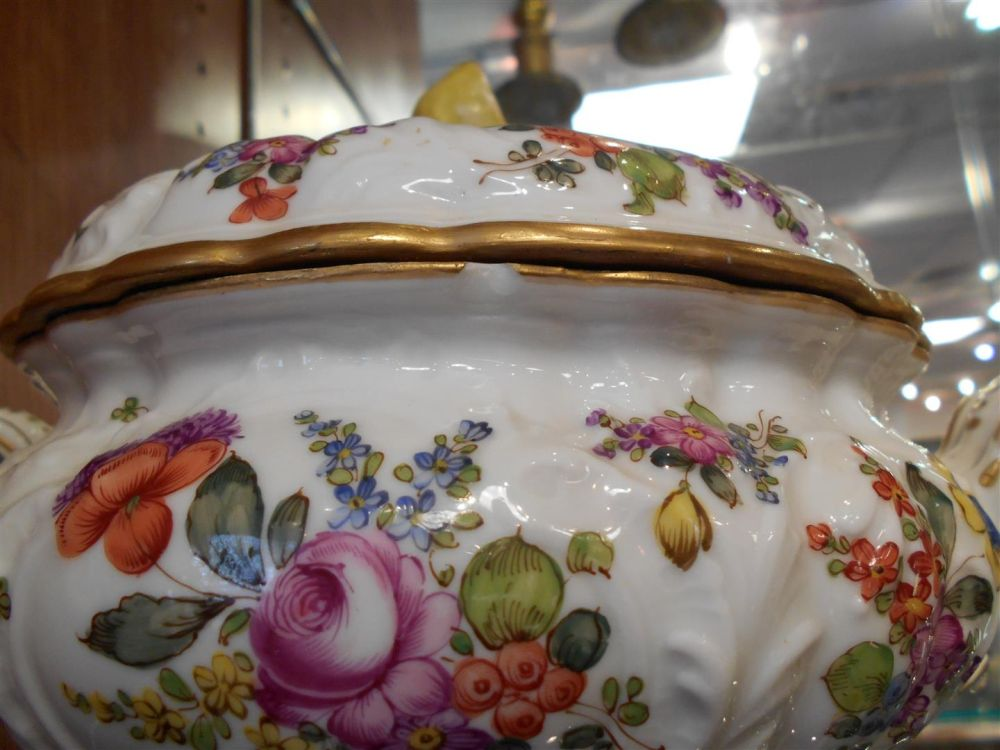 Pair of French Porcelain Tureens and Covers