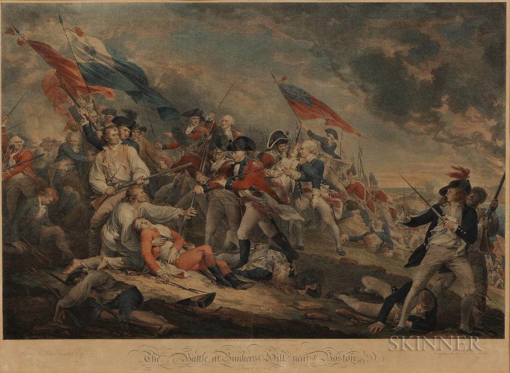The Battle at Bunker's Hill near Boston