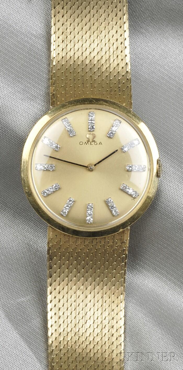 18kt Gold Wristwatch, Omega