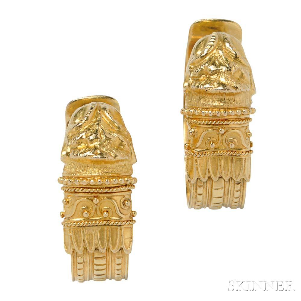 18kt Gold Earrings, Lalaounis