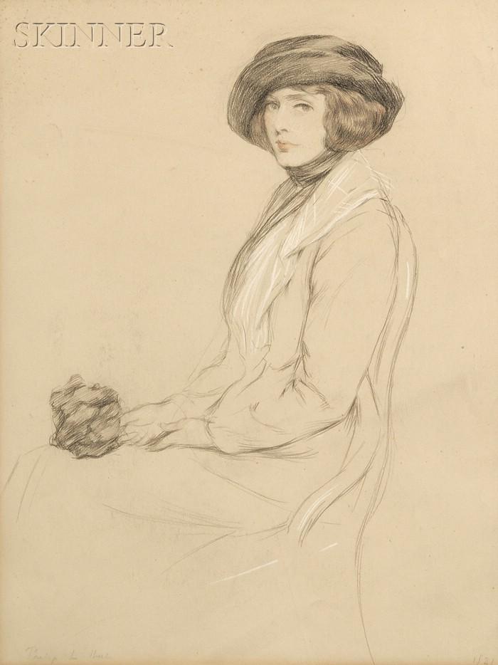 Philip Leslie Hale (American, 1865-1931)      Fashionable Woman