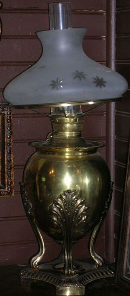 Late Victorian Juno Brass Plated Table Lamp