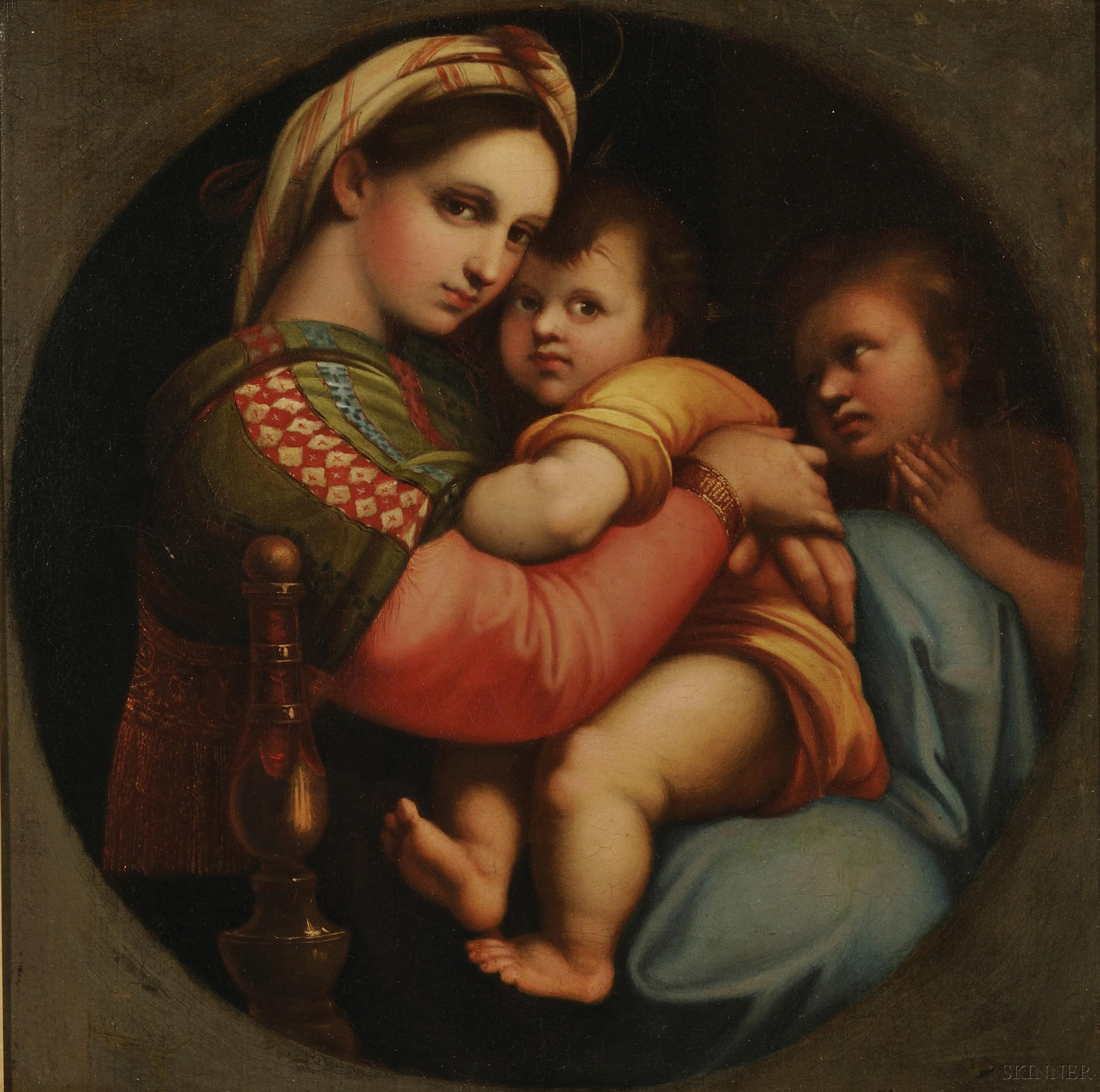 After Raphael (Italian, 1483-1520)      Copy of the Madonna della Sedia