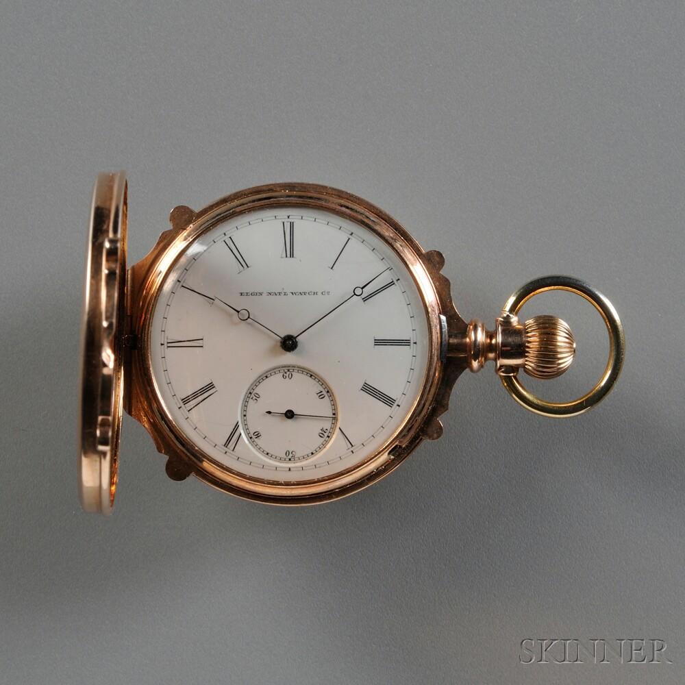 Elgin 14kt Gold Box Case Watch