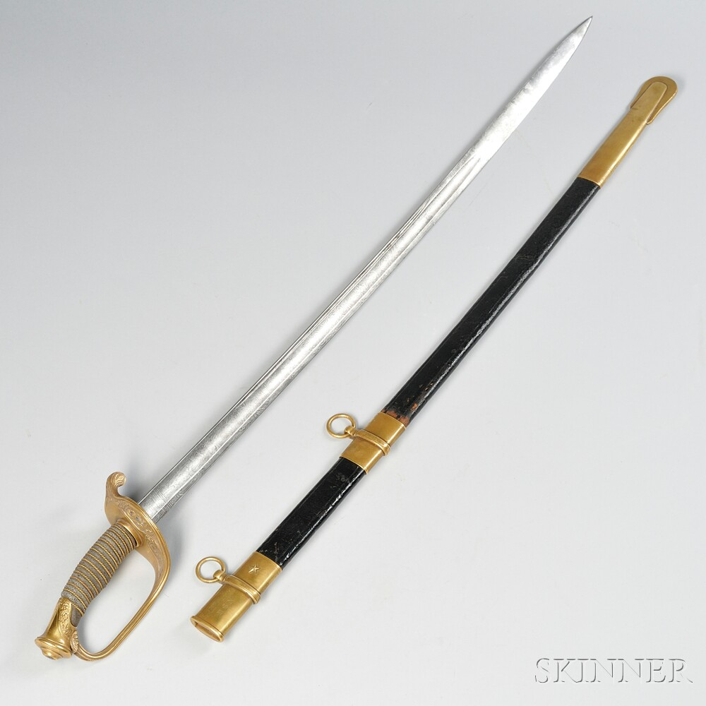 Identified Model 1850 Foot Officer's Sword and Scabbard