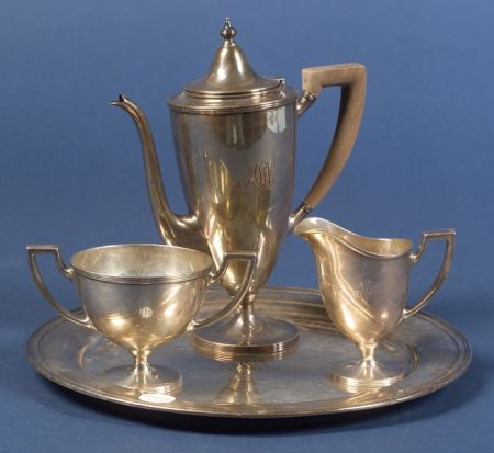 Four Piece Tiffany & Co. Sterling Demitasse Set