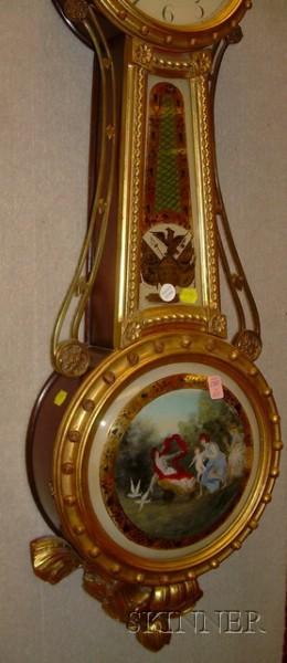 Mahogany Bench-made Girandole Wall Clock