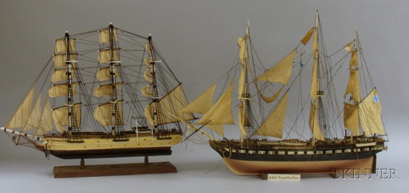 Six Assorted Ship Models