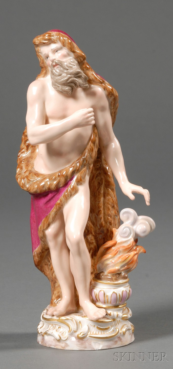 Meissen Porcelain Allegorical Figure of Winter
