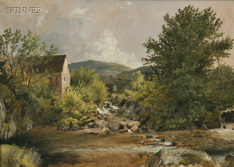 Jasper Francis Cropsey (American, 1823-1900)      The Old Mill