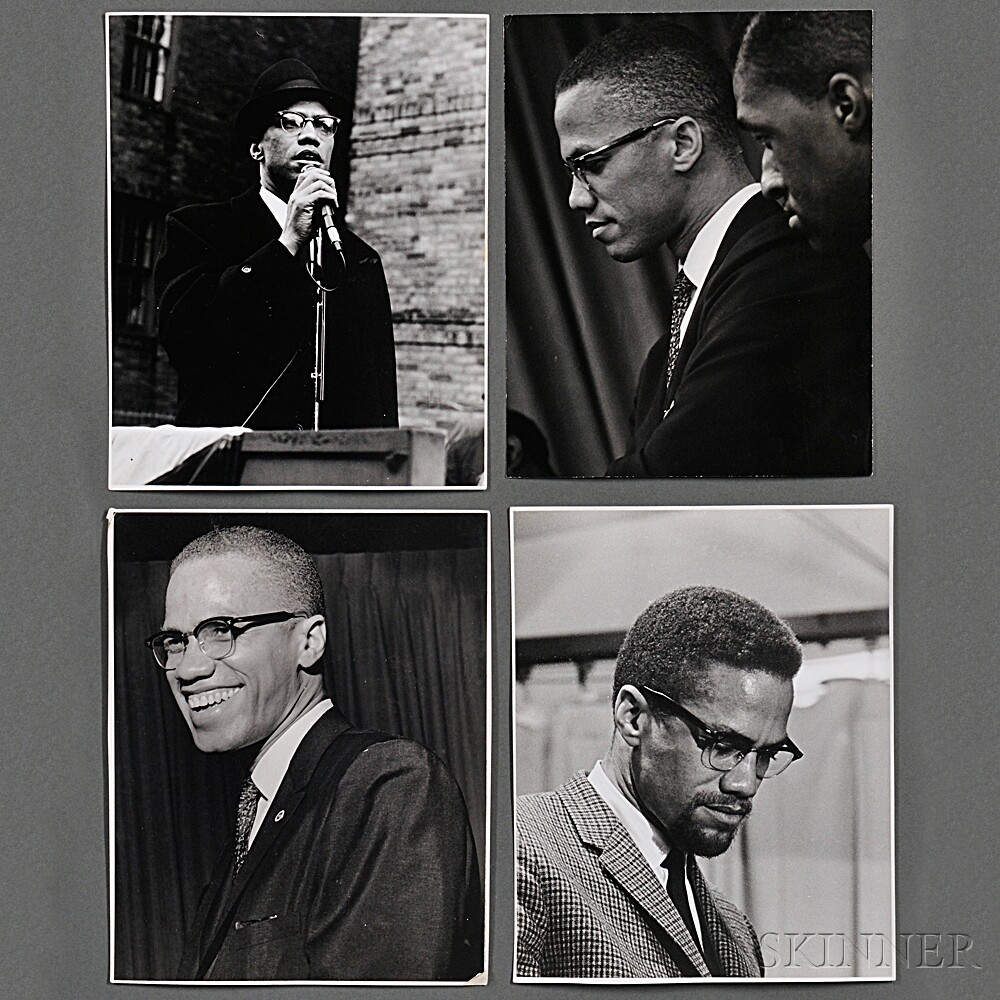Malcolm X (1925-1965) Thirteen Candid Portraits Taken by Robert Haggins (1922-2006)