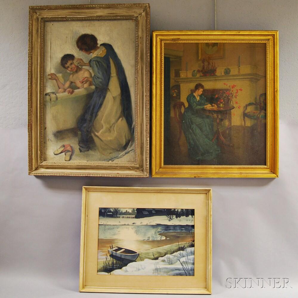 Three Framed Works of Art