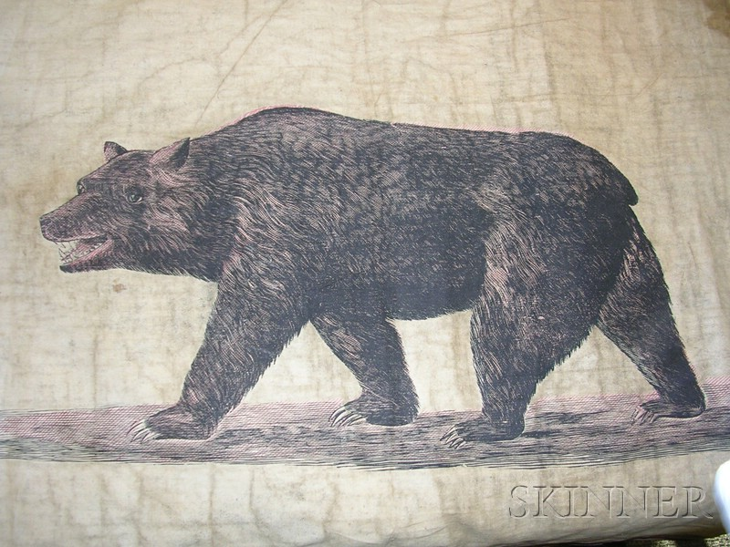 Three Early Printed Cotton California Banners