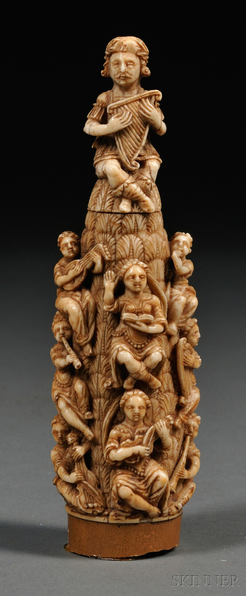 Carved Goat Ivory Group with Musicians