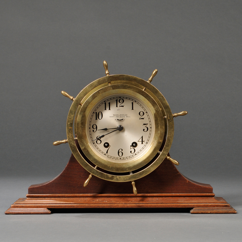 Seth Thomas Mayflower Model Ship's Bell Clock