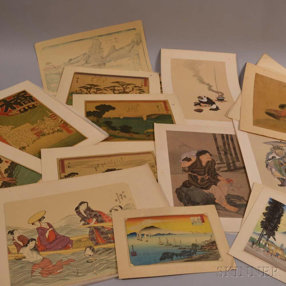 Twenty-nine Woodblock Prints