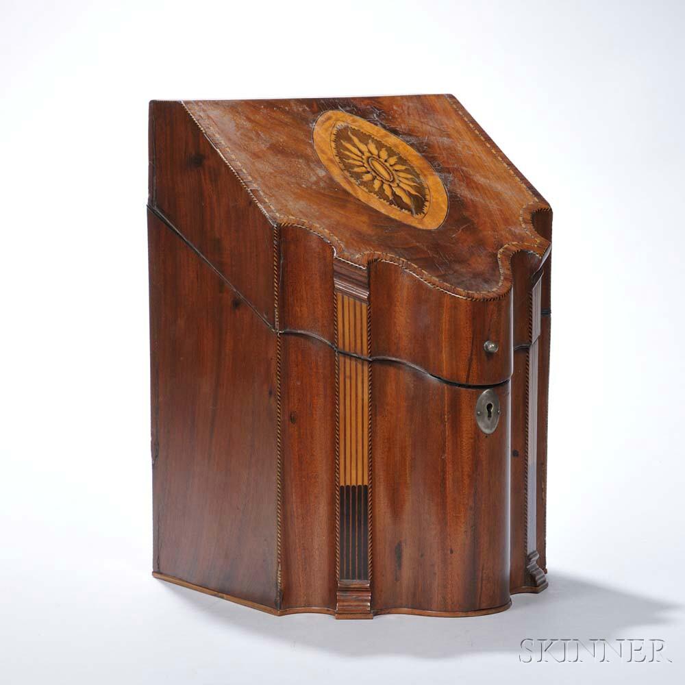George III Inlaid Mahogany Knife Box