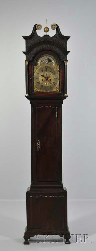 Thomas Pierce Mahogany Longcase Clock