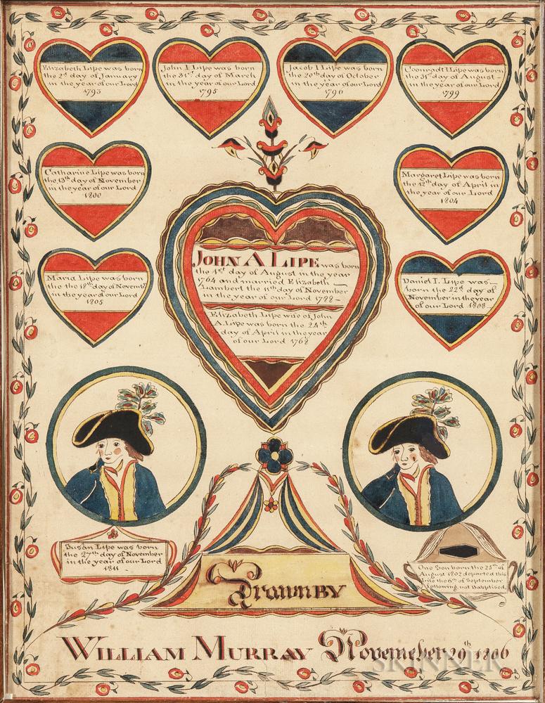 Watercolor Lipe-Lambert Family Record