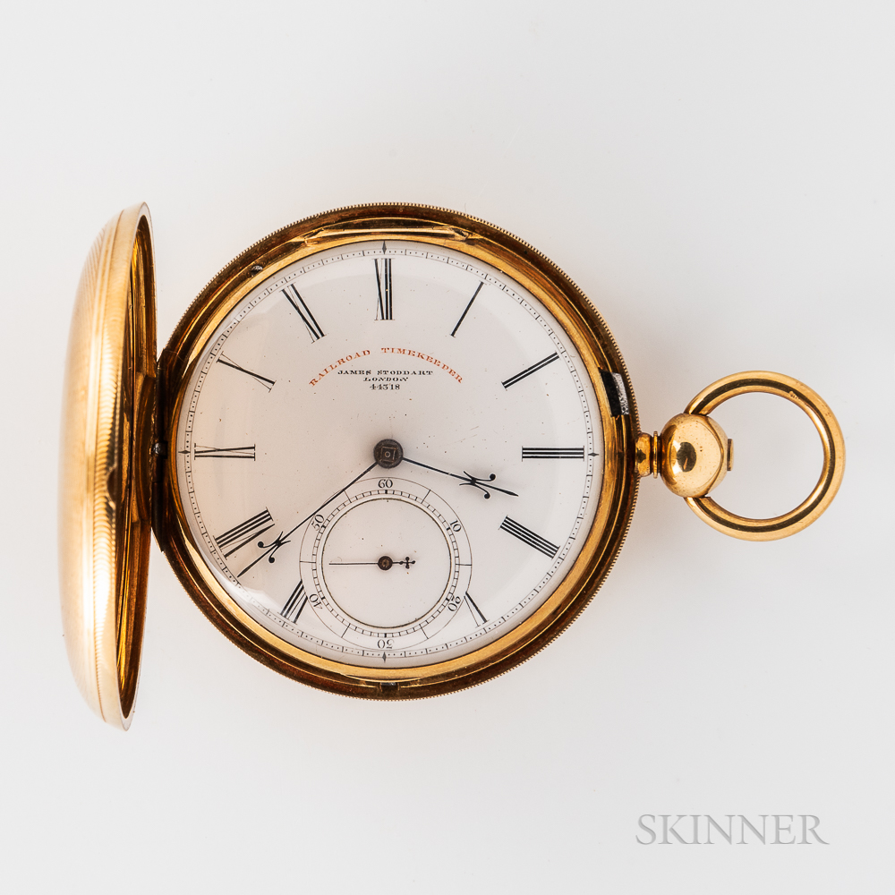 James Stoddart 18kt Gold Hunter-case Watch