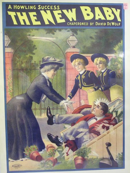 The New Baby   Chromolithograph Theater Poster