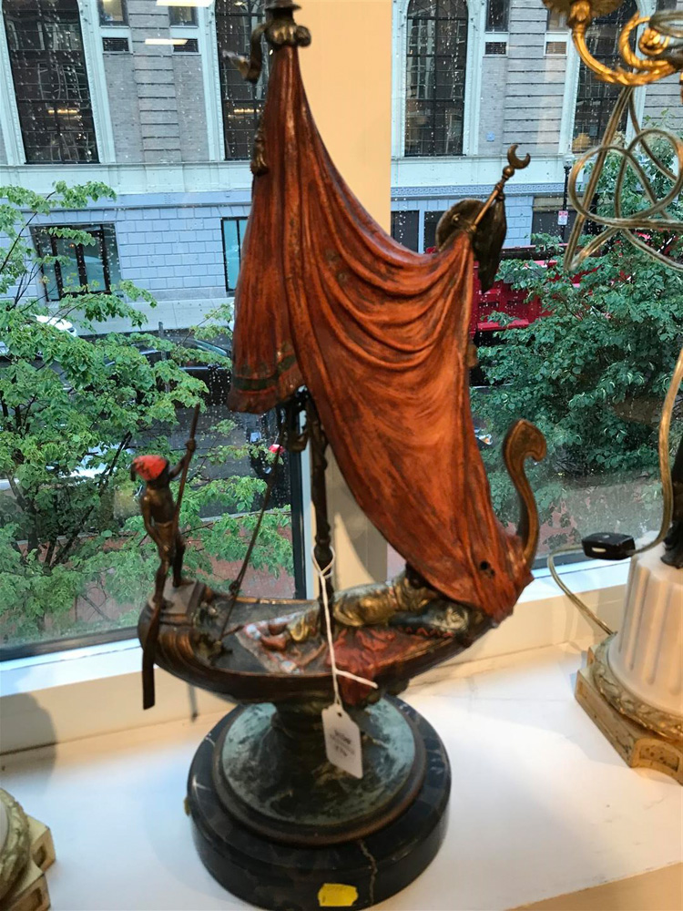 Franz Bergman Cold-painted Bronze Figure of Cleopatra's Barge