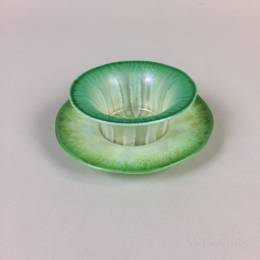 Tiffany Favrile Glass Bowl and Underplate
