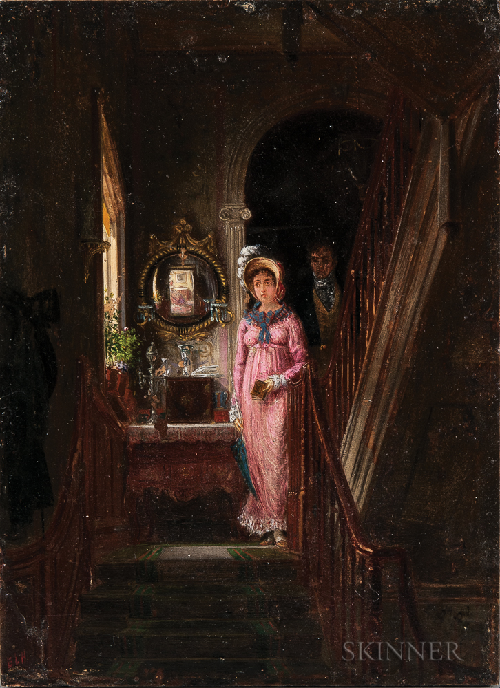 Edward Lamson Henry (American, 1841-1919)    Descending the Staircase