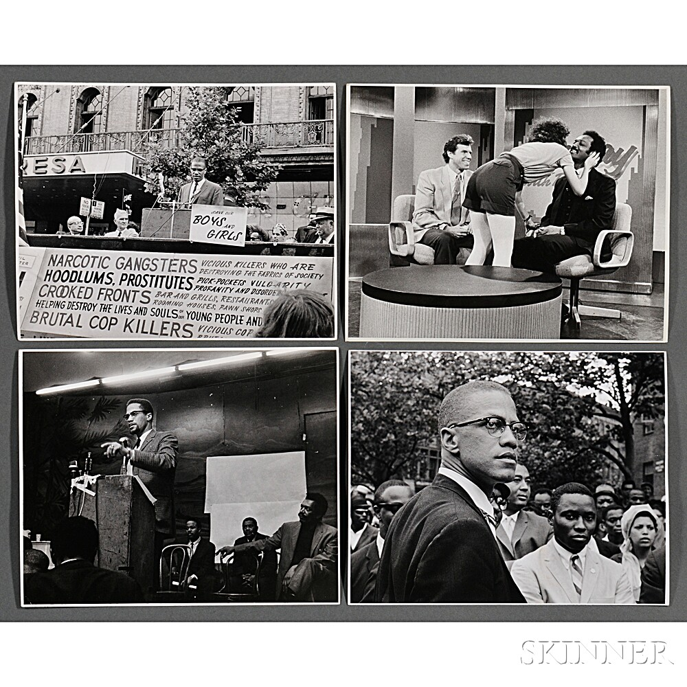 Malcolm X (1925-1965) and Others, Fourteen Photographs Taken by Robert Haggins (1922-2006)