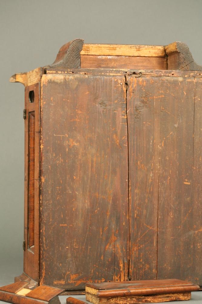Continental Walnut Veneered Quarter-chiming Table Clock