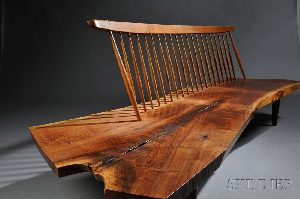 George Nakashima 1905 1990 Conoid Bench Sale Number