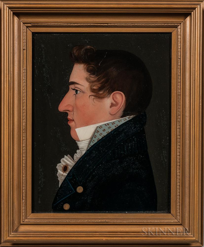 Benjamin Greenleaf (Massachusetts/New Hampshire, 1769-1821)      Portrait of Benjamin Willis