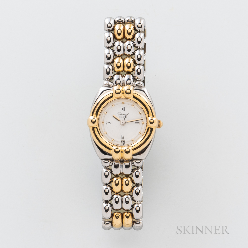"""Chopard """"Gstaad"""" Stainless Steel and Gold Wristwatch"""