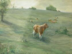 Francis Day (American, 1863-1942)  Cows at Pasture.