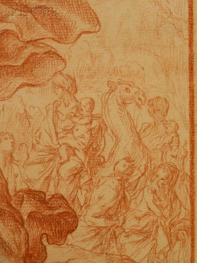 French or Italian School, 18th Century      Jacob and the Angel