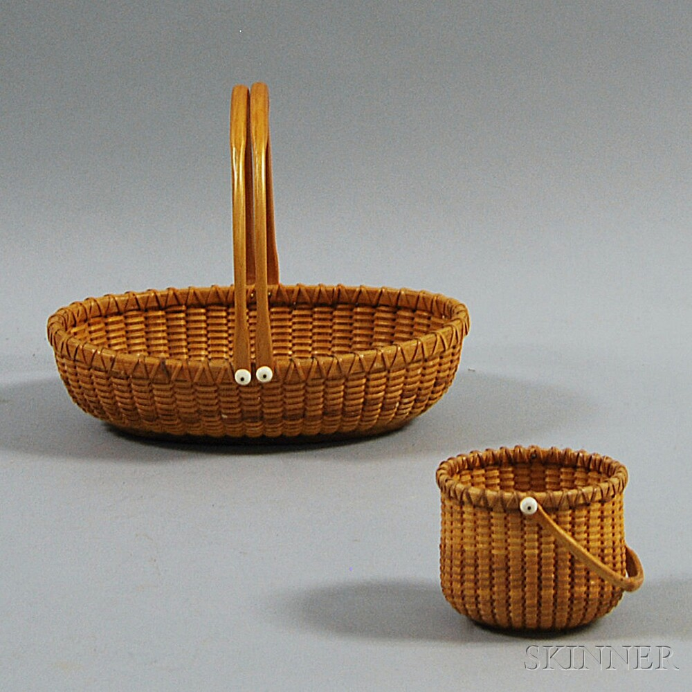 Two Modern Nantucket Baskets