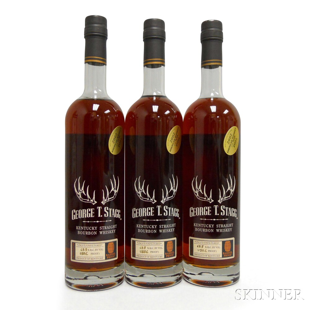 Buffalo Trace Antique Collection George T. Stagg 2002, 3 750ml bottles