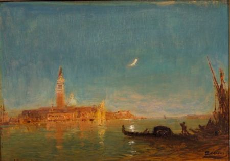 Attributed to Felix Ziem (French, 1821-1911)    Venetian View