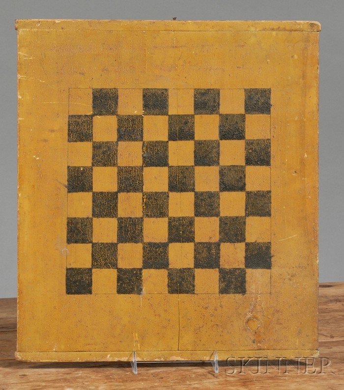 Polychrome Painted Wooden Game Board